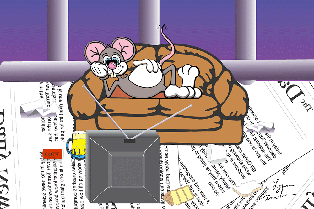 Illustration project for a mouse pad done in Adobe Illustrator