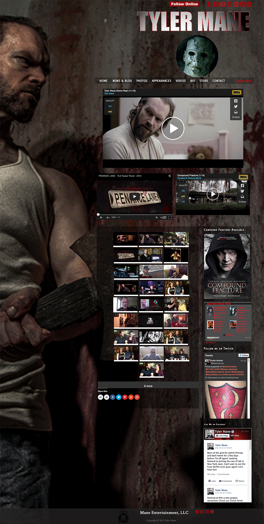 Tyler Mane video page