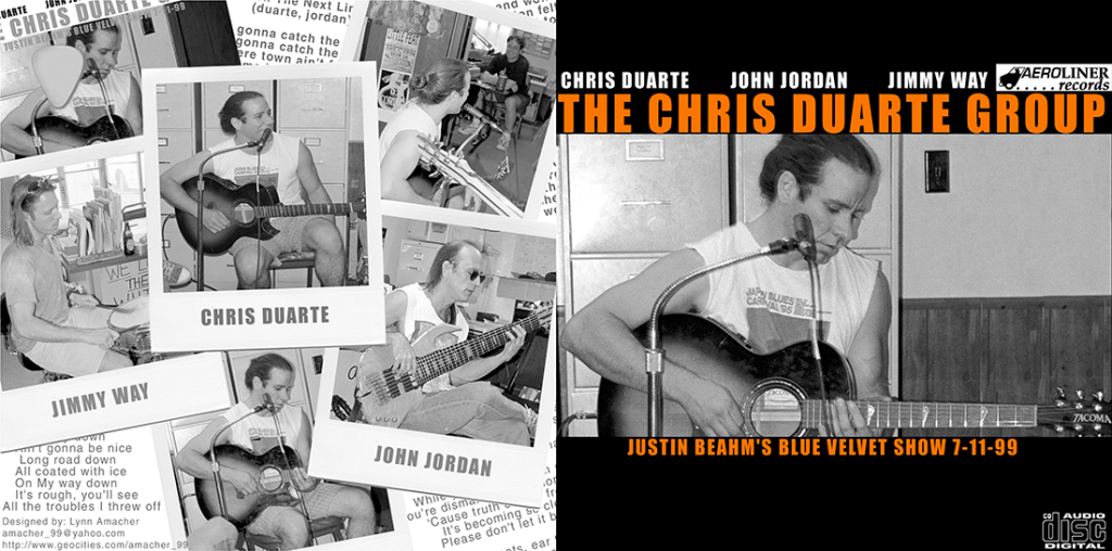 Chris Duarte CD Front cover of live show at WWHP in July 1999