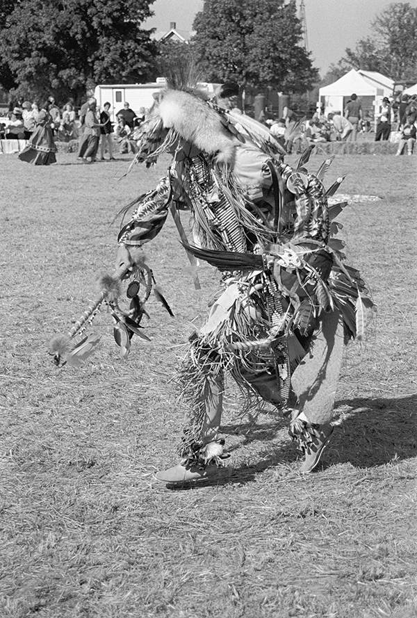 A dancer at the Pow-Wow during Buffalo Days in Farmer City