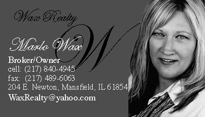 Business Card for Marlo Wax-Greyscale version