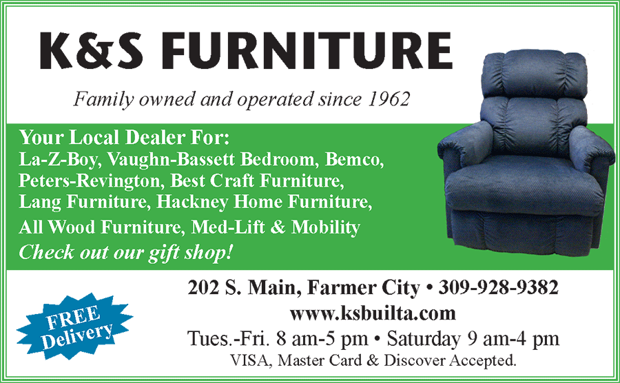 Business Card for K and S Furniture