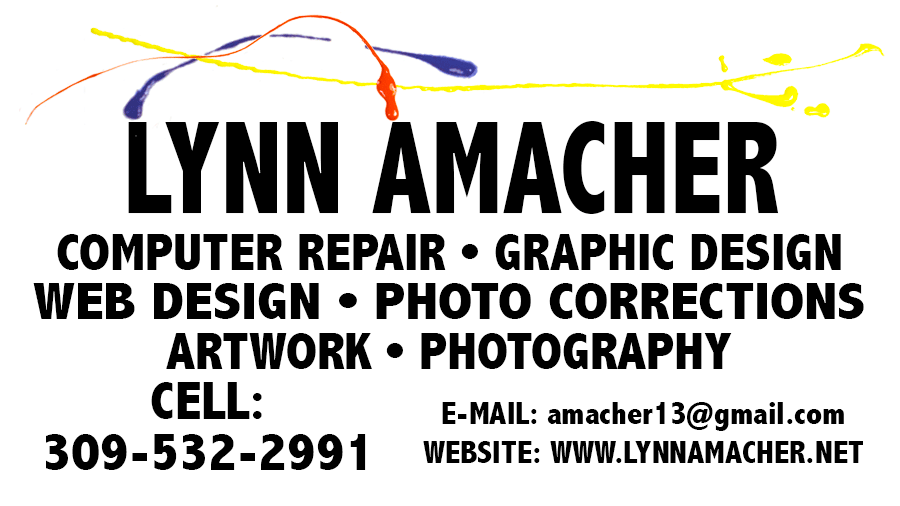 Business Card for Lynn Amacher