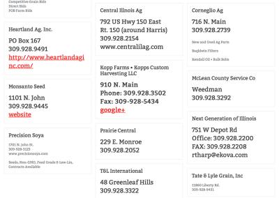 Farmer City Business List