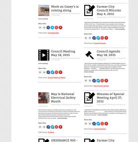 City of Farmer City News Page