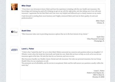 Illini Insurance Testimonials page