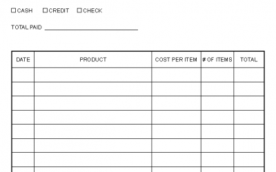 Fillable PDF Form – Invoice